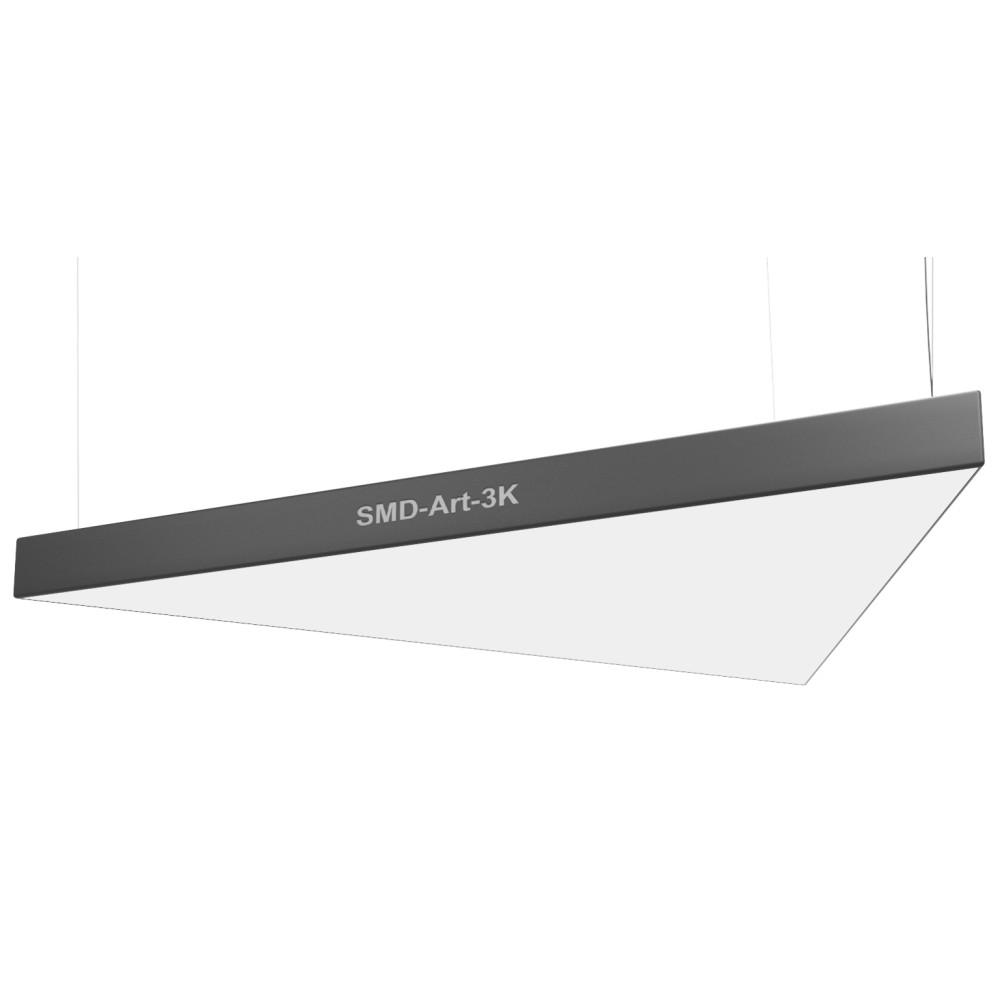 Подвесной светодиодный светильник SMD-Art-3К Треугольник 160W 1200mm