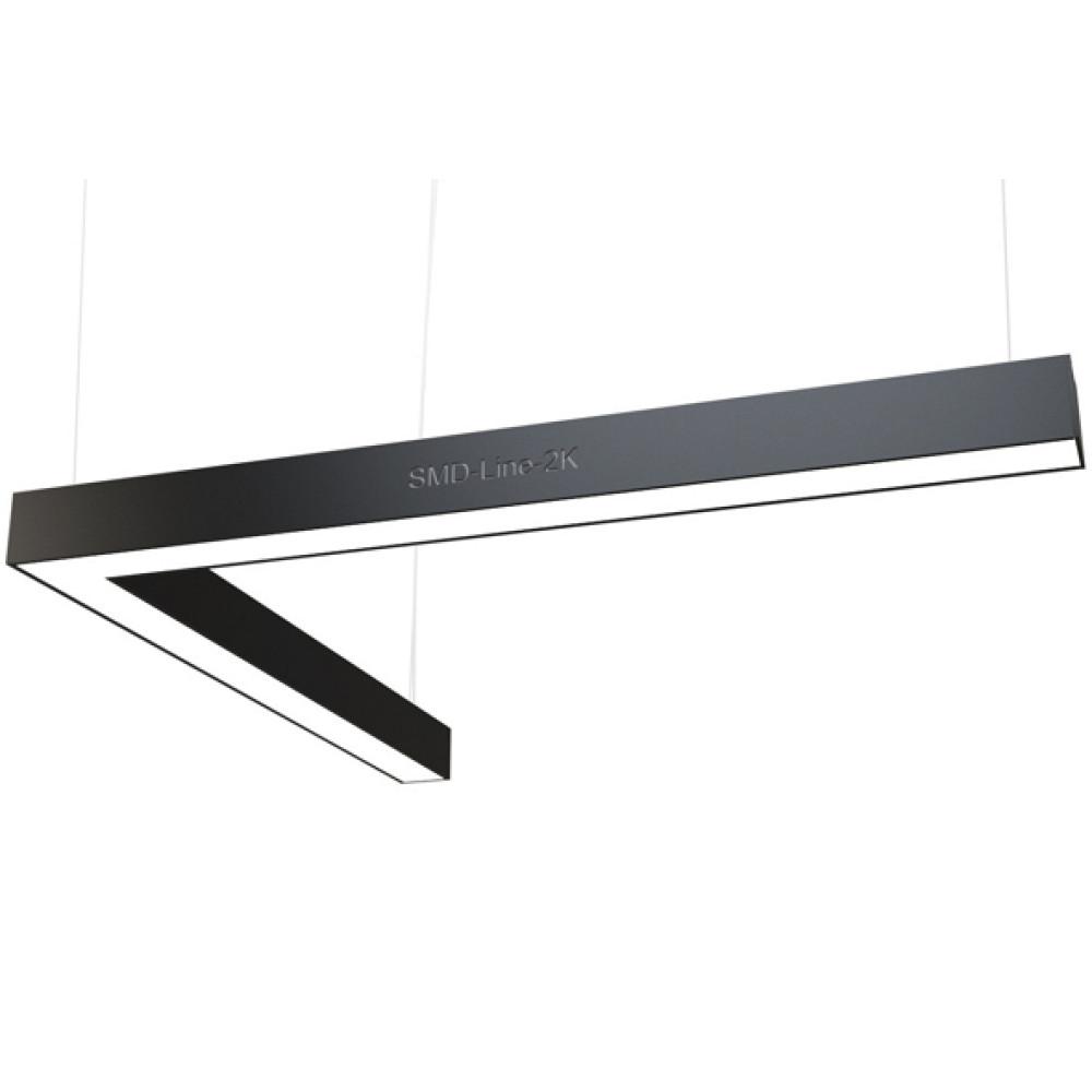 Светодиодный профильный линейный светильник SMD-Line-2K Угол 80W 1000x1000mm