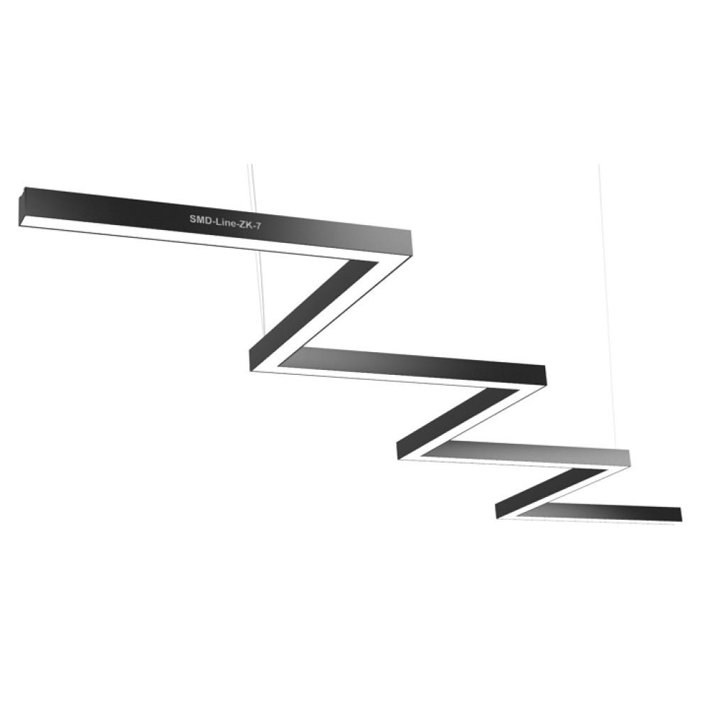 Светодиодный профильный линейный светильник SMD-Line-ZK-7 Зигзаг 140W 3500mm